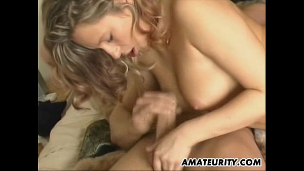 Stunning amateur girlfriend homemade action
