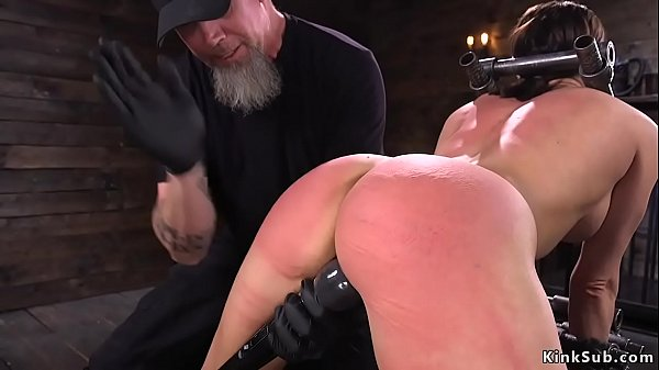 Tough busty slave gets pussy toyed