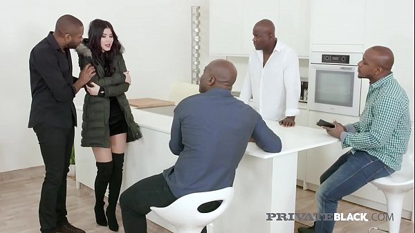 Private Black - Young Czech Lady Dee Gets 4 Big Black Cocks!