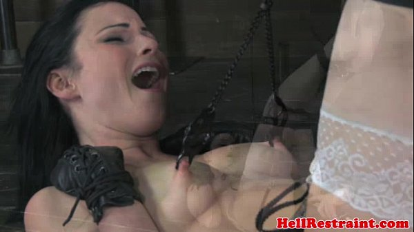 Nipple clamped bitch in TT session