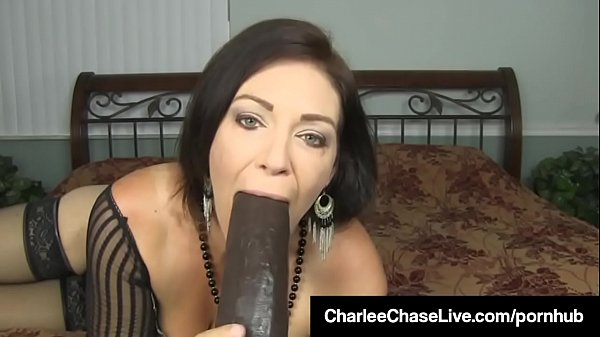 Hot Milf Charlee Chase Punishes Pussy With Big Black Dildo