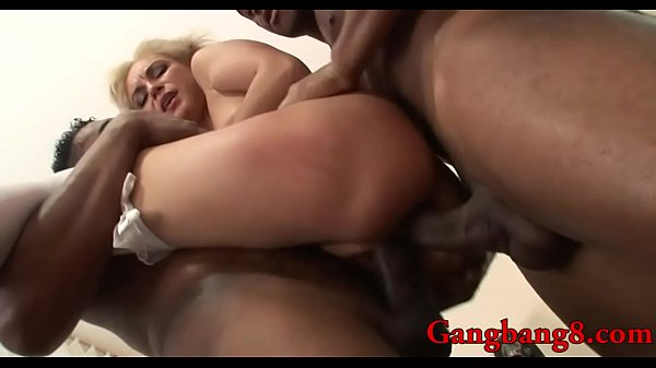 Caring nurse taking huge black cocks in pussy and ass