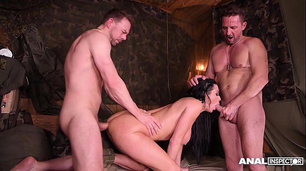 Anal inspectors in hardcore DP threesome with s...