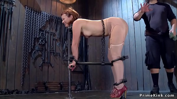 Slave in device bondage anal toyed