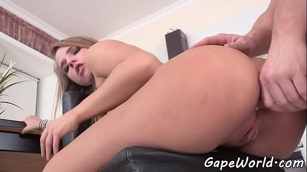 Anal loving beauty ass gaping and rides cock