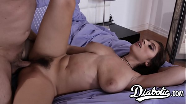 Ella Knox shows her huge tits and wet pussy to stepdad