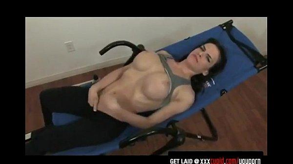 Exercising Brunette Gets Horny