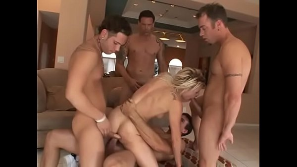Nasty blonde slut Brittany Angel knows how to fuck those naughty boys around her