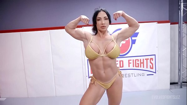 London River fighting Brandi Mae in lesbian wrestling with face sitting and a hard strapon fuck Thumb