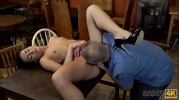 DADDY4K. Old owner of bar satisfies needs together with son's hot GF Thumb