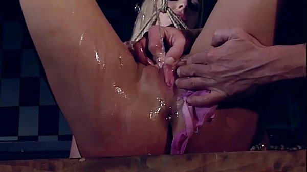 Hunting a slave in the city.The blonde victim. Mercedes White. Part 2. She's shamelessly pissing through her panties, so I punish her and humiliate her for that