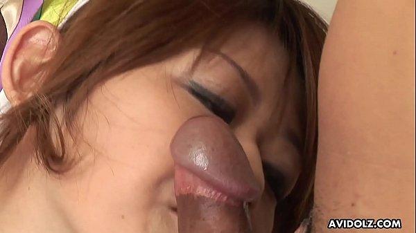 Japanese darling, Nagisa Sasaki sucks cock, uncensored