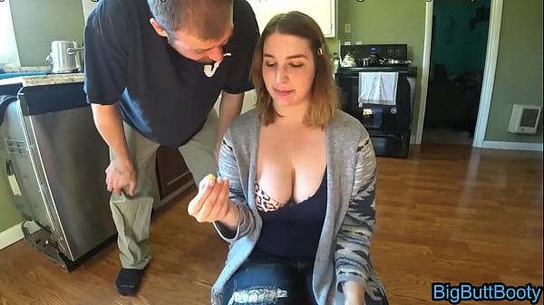 Basic Bitch Gets A Deep Creampie