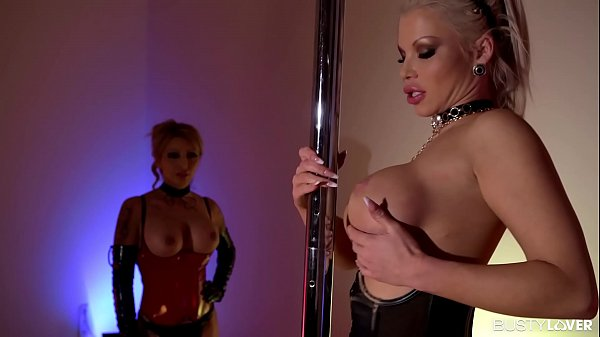 Top-heavy babes Barbie Sins & Marika Vitale fill their pinks with dildos