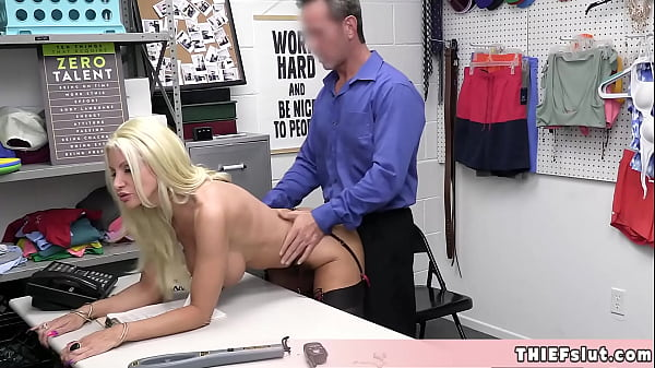Blonde MILF shoplifter Brittany caught in the act at the shopping mall