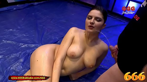 666Bukkake - Francesca DiCaprio gets her ass fucked while Pissed on
