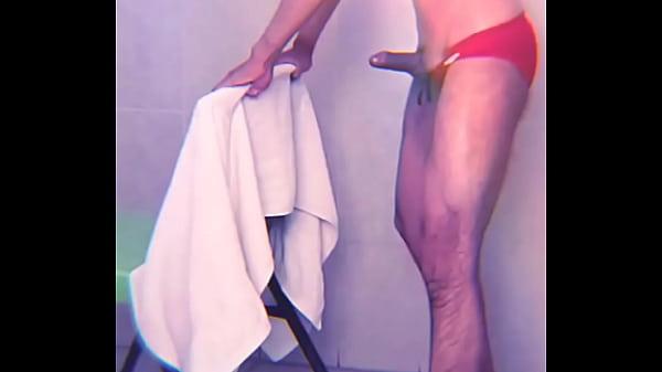 I masturbate in the pool locker room after swimming