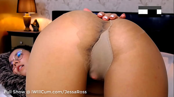Shy Big Butt Nerd Teen in Stockings Wants You To Watch Her Squirt and Cream Up Close Pt 2