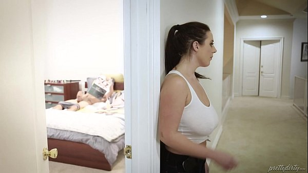 Huge titted maid fucks the virgin guy - Angela White, Tyler Nixon