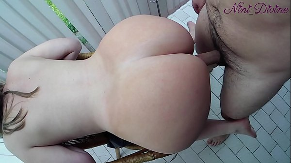 He cums twice on my huge ass! French Amateur Couple!