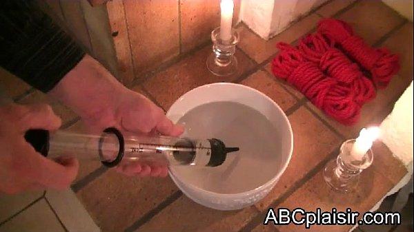 Enema syringe for a BDSM enema