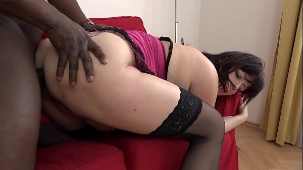 Thick Brunette MILF Loves Chocolate Dick in Her Pussy
