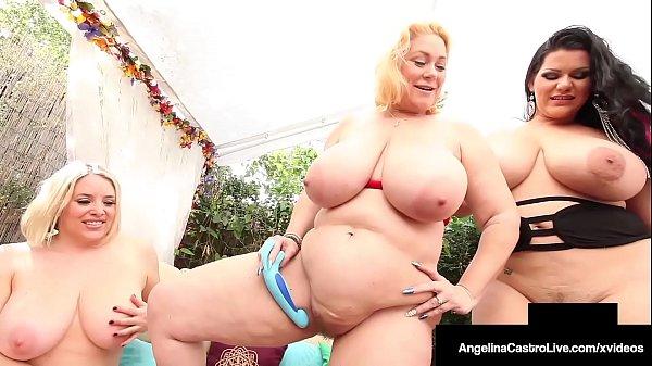 Massive Tits! Watch Angelina Castro Sam 38G & Maggie Green!