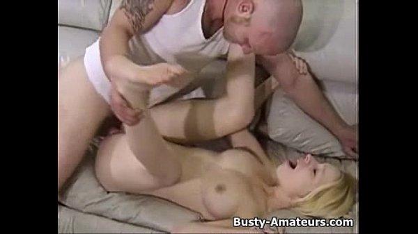 Busty Candace sucking and hardcore fucking