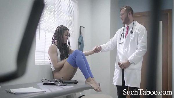 Doctor's Clinical Trails On Ebony Athlete- Kira Noir
