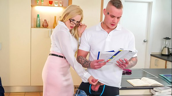 KINKY TUTOR - Hot MILF Angel Wicky seduces & bangs student Thumb