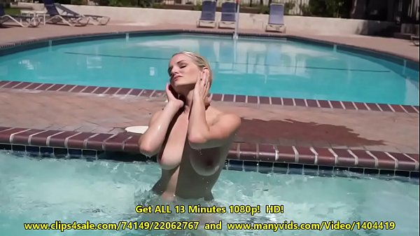 Liz Ashley Gets Naked At the Pool & Spa