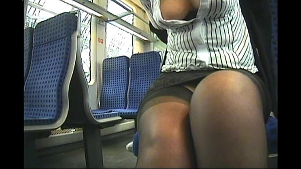 Down blouse secretary in train