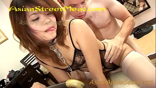 Flat Tit Lingerie Babe Chained Up For Cheese