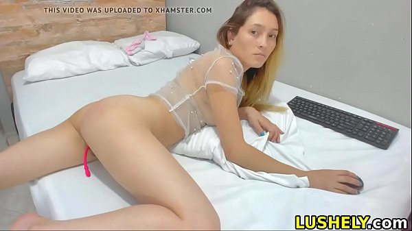 sexy girl stretches her ass and pussy for you to cum inside