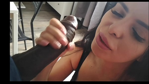 A brunette with blue eyes and huge tits makes h...