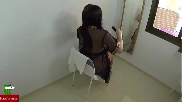 a quick fuck while she gets ready in the mirror...