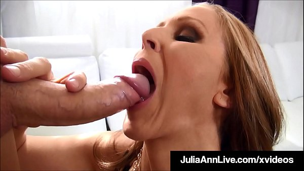 Cum On My Titties! Busty Milf Julia Ann Milks A Hard Cock!