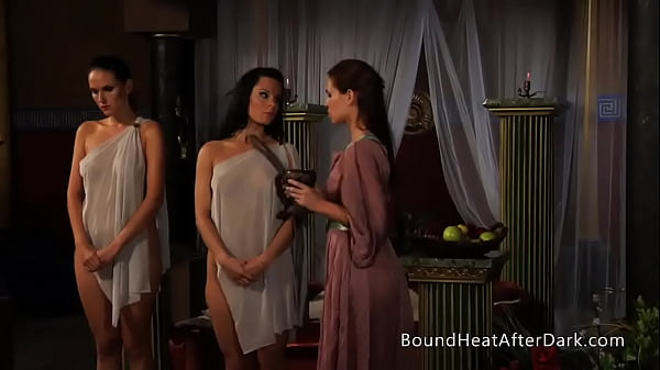 Two Lesbian Slaves Undressed And Lightly Whipped By Madame