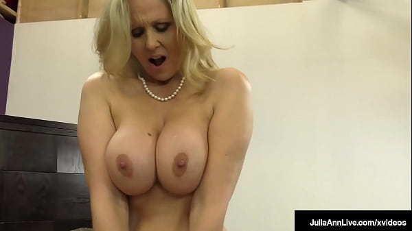 MILF Julia Ann Uses Her Hands, Big Tits And Cute Feet To Milk A Cock!