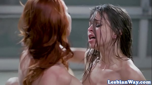 Redhead lezdom dominates oral orgy Thumb