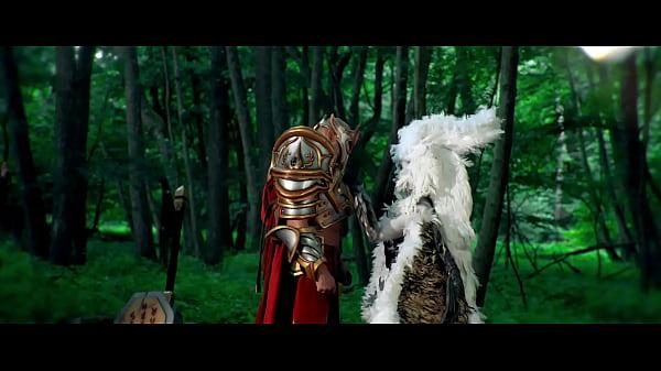 Gametusy fantasy series porn parody trailer - Fallen Angel and Palasin costume fuck Thumb
