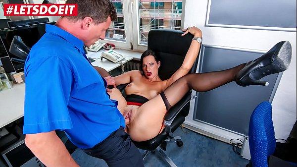 LETSDOEIT - Busty German Secretary Has Rough Sex With Her Boss
