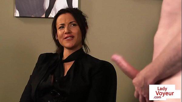 Classy office femdom humiliates submissive Thumb