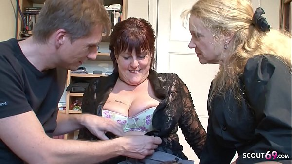 Mature Couple Seduce MILF Neigbour to Join in 3some German Thumb