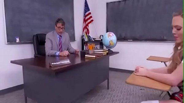Five men have amazing sex with modest schoolgirl in class