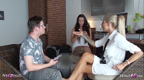 Girlfriend caught BF get Footjob Cheating by German Broker