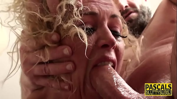 Throated busty sub milf gets anally banged