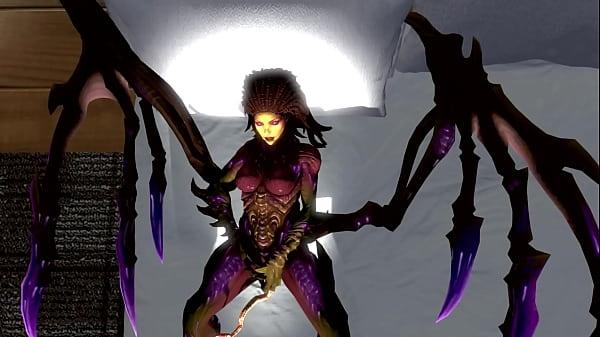 Kerri-prod - Kerrigan and the alien chestbuster.