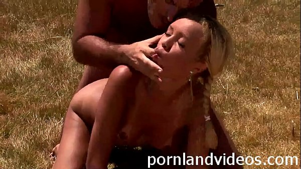 young blonde slut hungry for big cock outdoor anal sex