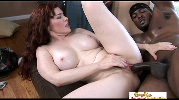 Horny MILF hunts a black stud down and gets fucked